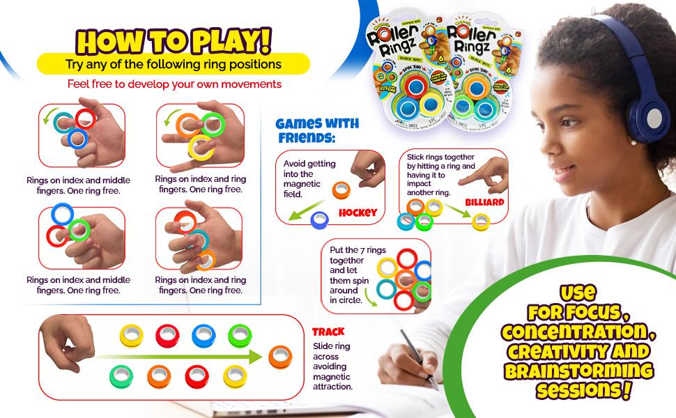 Roller Rings Ja-ru Funaton how to play