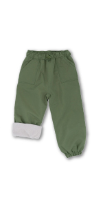 rain pants, rabbit, fleece lined