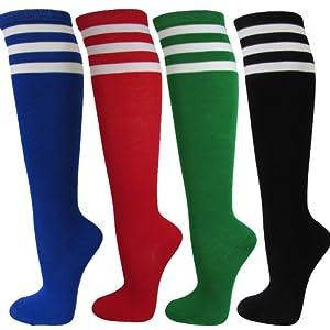Knee High Striped Socks