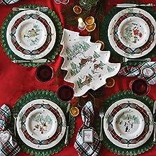 juliska berry and thread north pole ceramic christmas dinner plates ceramic stoneware