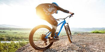 bicycle bicyclist bike biker biking cycling cyclist male man mountain mtb outdoor professional sport