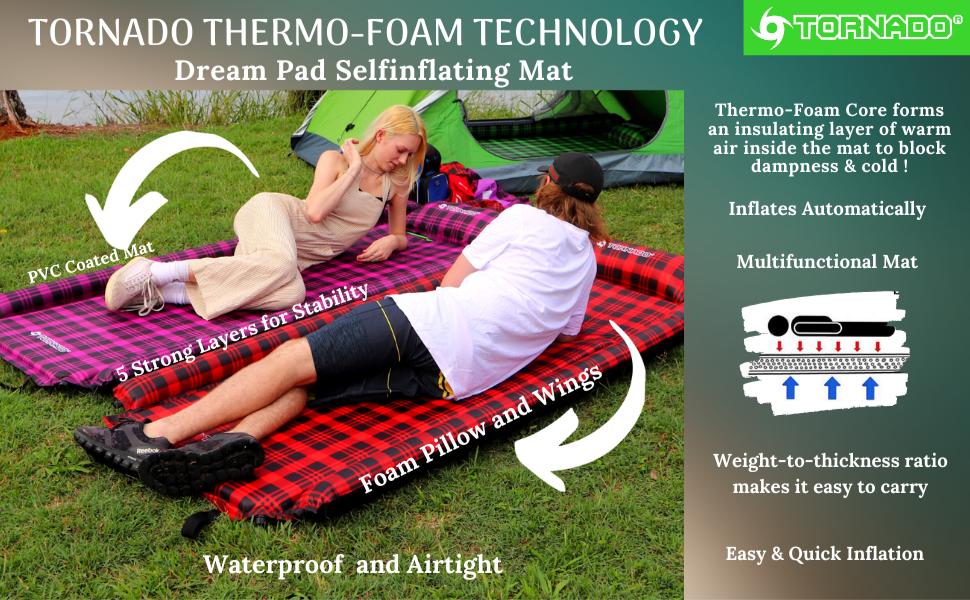 Tornado Dream PAD Self Inflating Sleeping Pads