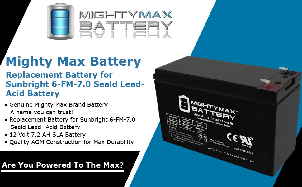 replacement Battery for Sunbright 6-FM-7.0