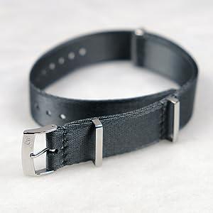 oncewill 20mm nato strap gray seatbelt nylon seat belt soft