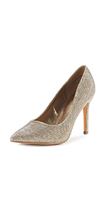 Women's classic fashion peep toe heels dress pump shoes for party office business club wedding daily