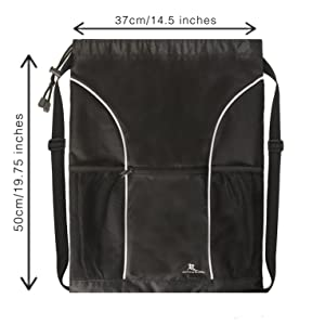 extra large gym bag, drawstring bag, gym bag, Running Buddy