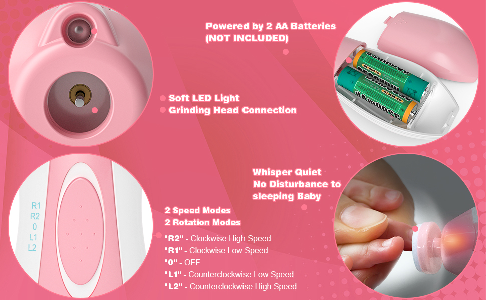 Baby Electric Nail Trimmer Set