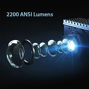 2200 ANSI Lumens