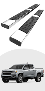 YITAMOTOR 6 inches Running Boards Compatible with 2015-2021 Chevy Colorado/GMC Canyon Crew Cab