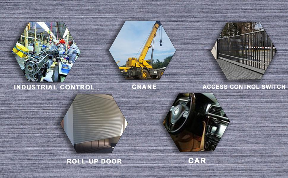 Multipurpose scene industrial control excavato car roll-up door