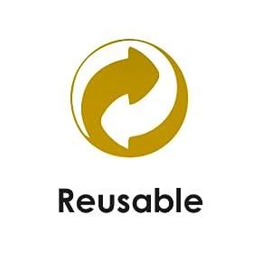 Reutilizable.