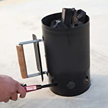 Firewood Charcoal Lighter Coal Starter BBQ Barrel Rapid Fire Stove for Camping Grilling