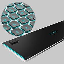 backlit light up keys gaming led keyboard 7 color lighted multi device full size bfriend bfriendit