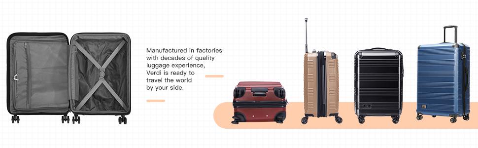 Verdi Lightweight Luggage Set