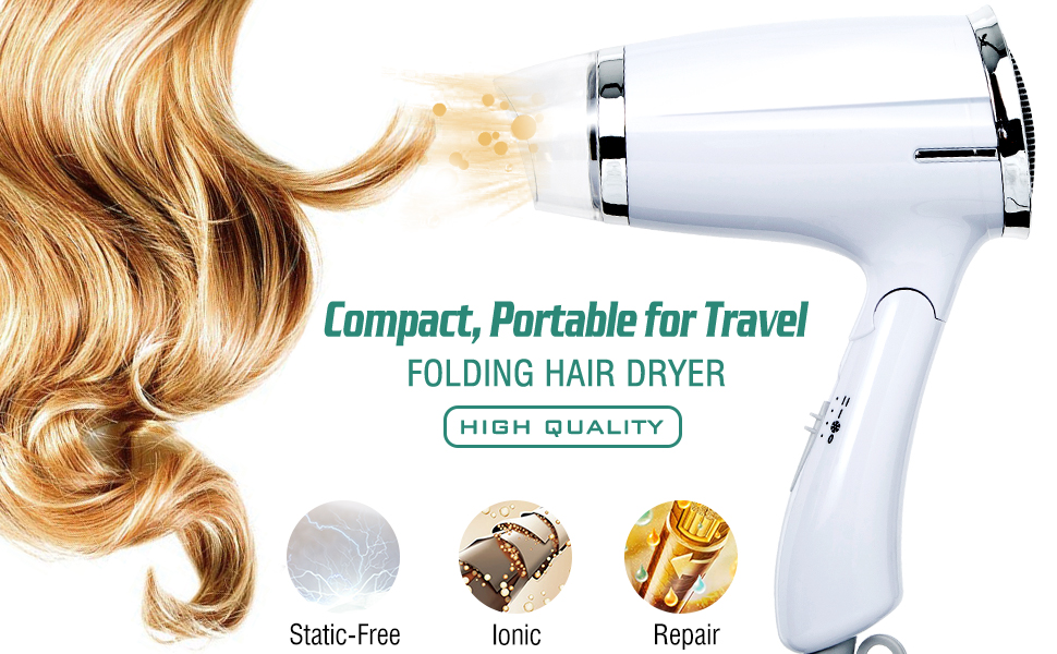 small blow dryers compact travel hair dryers for men and women