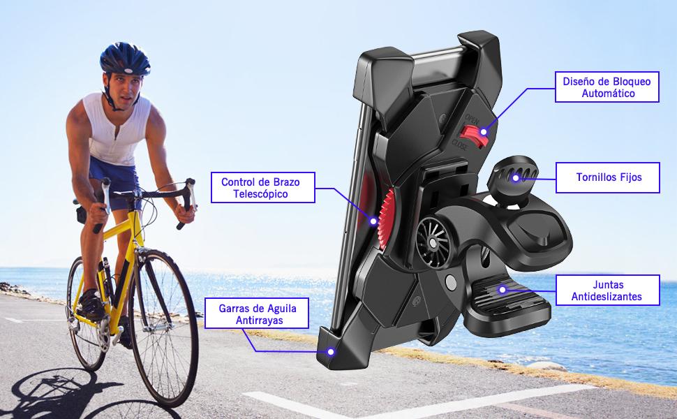 Cocoda Soporte Movil Bicicleta, 360°Rotación Anti Vibración ...