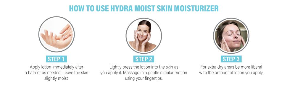 how to use hydra body moisturizer