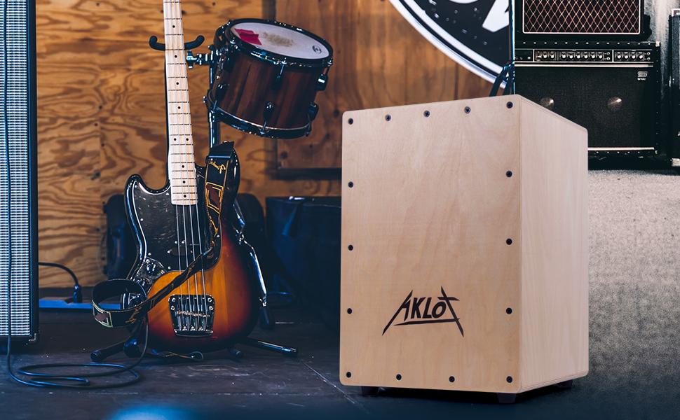 Aklot Tambor Cajón Conjunto de caja compacta de mermelada acústica ...