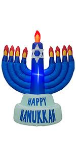 AJY 5.5 FT Giant Hanukkah Menorah Inflatable