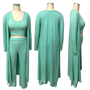 Green 3 Piece Outfit For Women