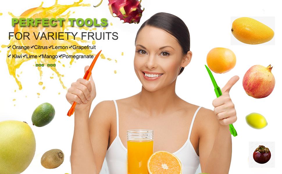 Orange Peeler Tools Citrus Peel Cutter Plastic Fruit Vegetable Slicer Cutter Lemon Peeler Remover