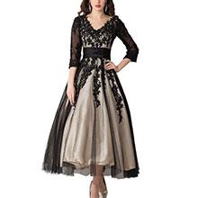 tea length wedding formal dress