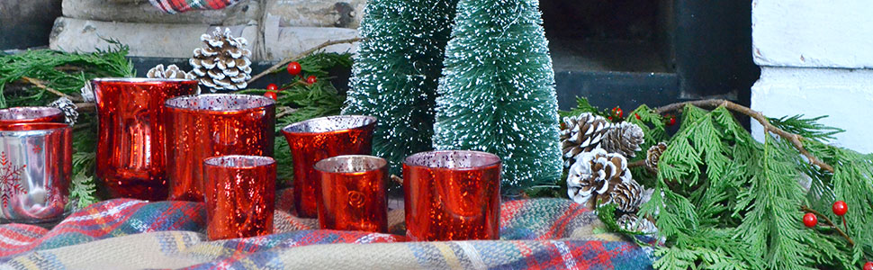 red christmas votives