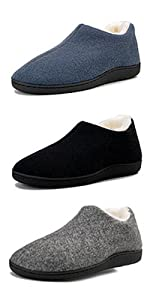 Womens Comfortable Fleece Lined Memory Foam Closed Back House Shoes Slip on Indoor Outdoor Slipper