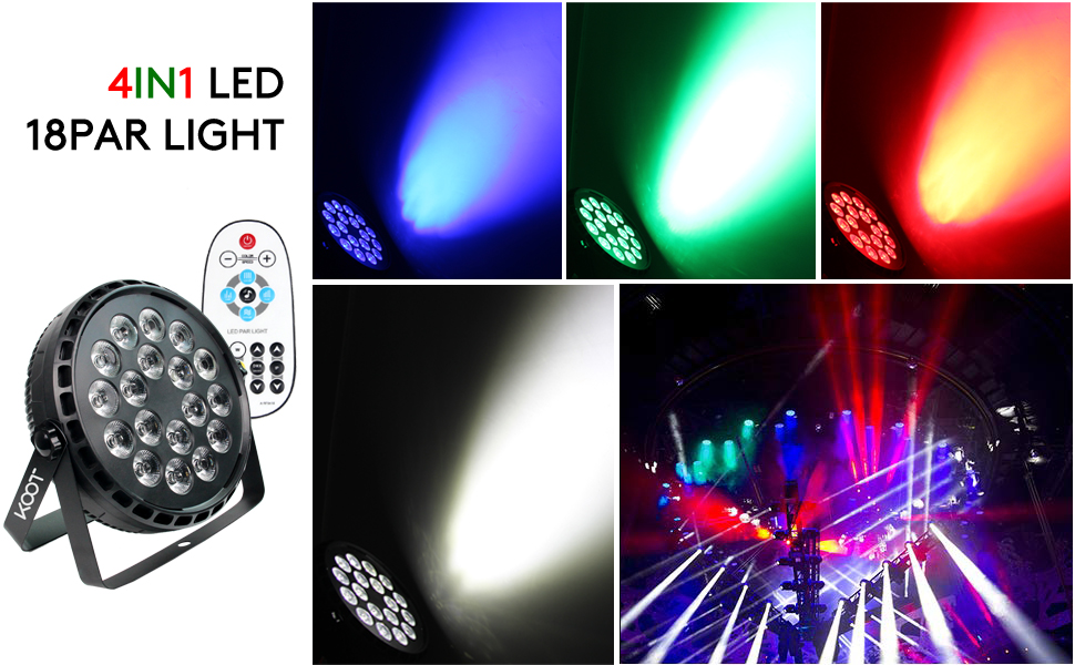 RGBW DJ lights