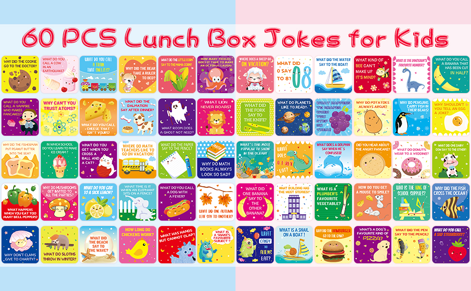 60 Lunch Box Jokes for Kids - All 60 Cards