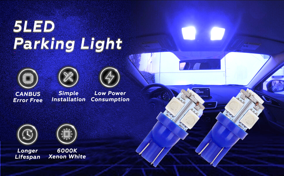 blue led parking light