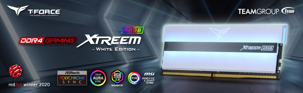 XTREEM ARGB DDR4 RGB MEMORY White