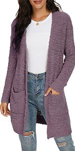 Women's Open Front Knit Cardigans