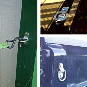 Fix logistical tightening of ratchet and cam buckle straps, ropes, hooks and chains to secure goods