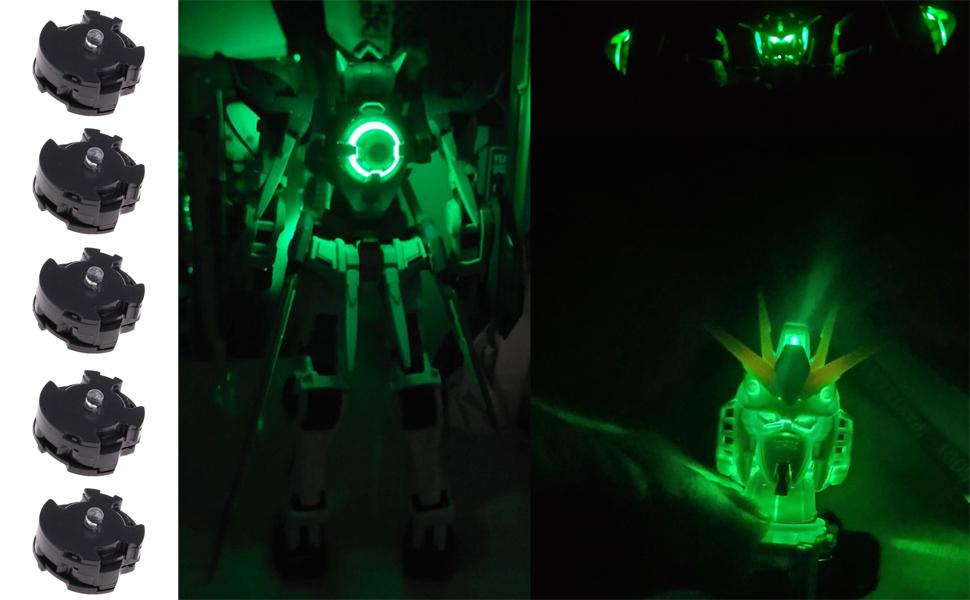 Plastic LED Lights Common for MG 00Q Assembled Gundam Model Accessories