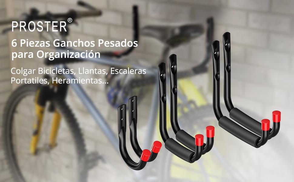 6 PCS de Ganchos de Pared Gigante Pesado Ganchos Universal Soporte ...
