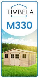 garden building for storing storage wooden panels 17 mm 246 x 418 x 420 cm 16 m² m330