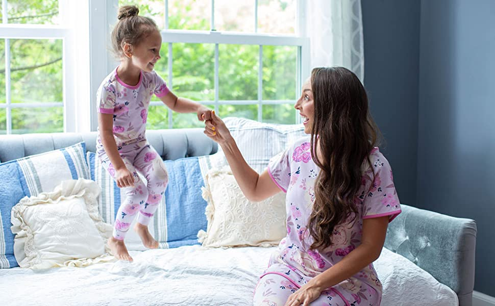 maternity pajamas, nursing pajamas, family matching , labor gown, hospital gown, maternity PJ,