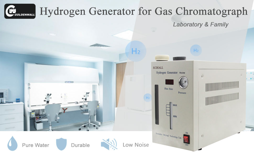 220V 0-1000ml CGOLDENWALL Lab Ful Automatic High Purity Hydrogen Gas Generator H2 Machine 99.999/% Hydrogen Purity H2