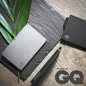 NFC pop up metal wallet card holders