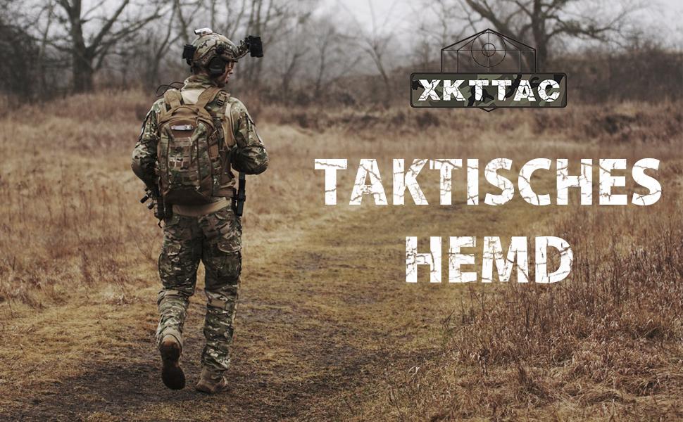 XKTTAC Tactical-Bat-Airsoft Militaire Chemise