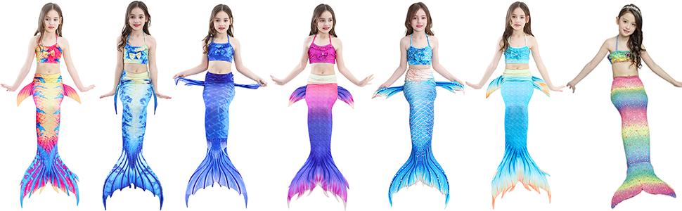 Girls Swimsuit Mermaid Tails