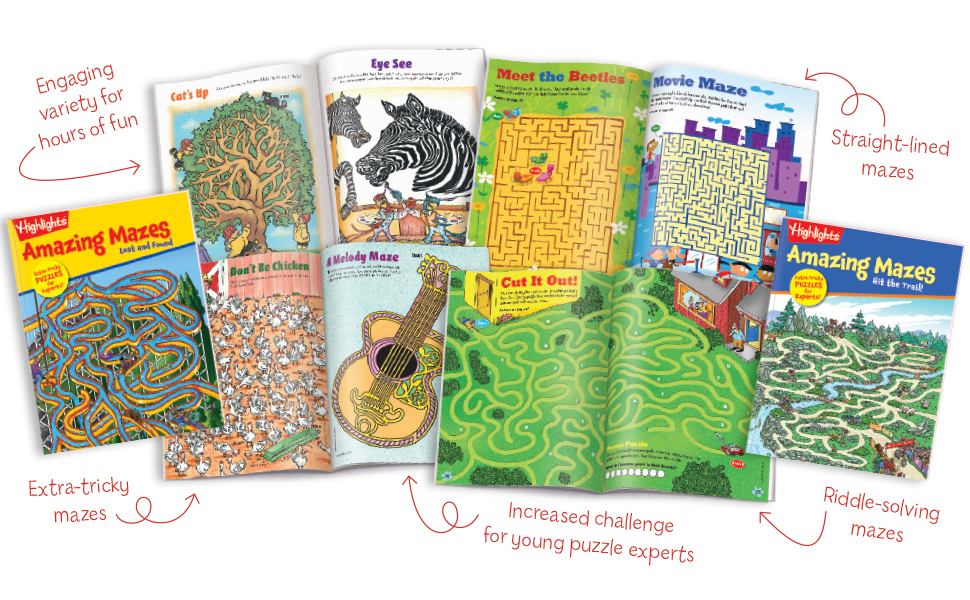 highlights, entertainment, learning for kids, kids activities, mazes, highlights for children - Highlights Amazing Mazes 2-Book Set For Kids - Expert