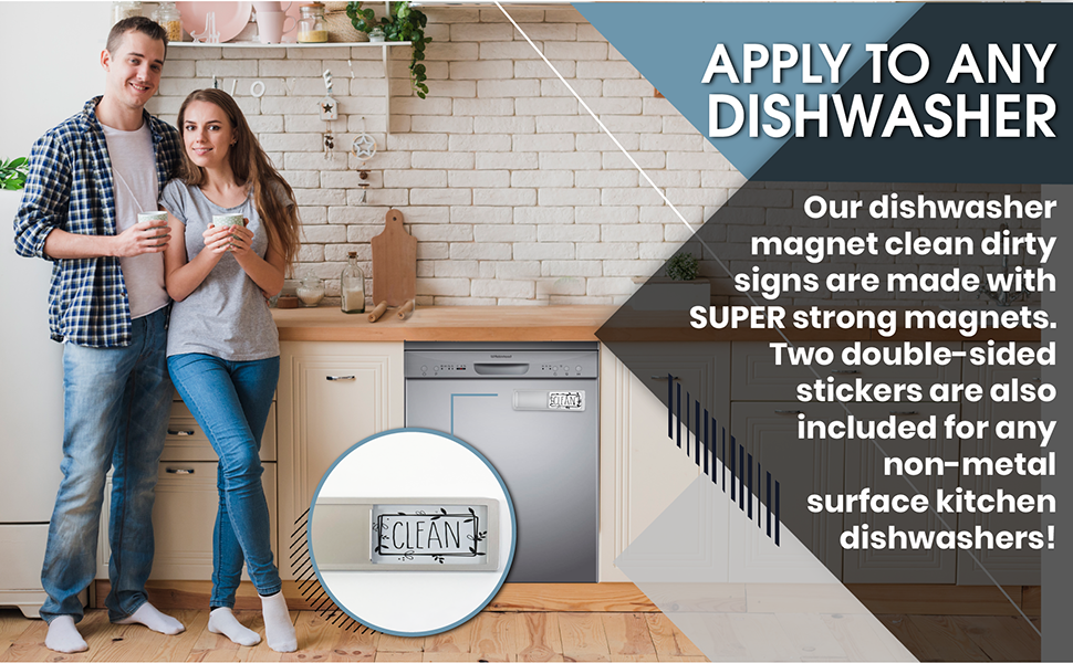 dirty clean dishwasher magnet refrigerator large dish dark all sign for kitchen magnets and extra