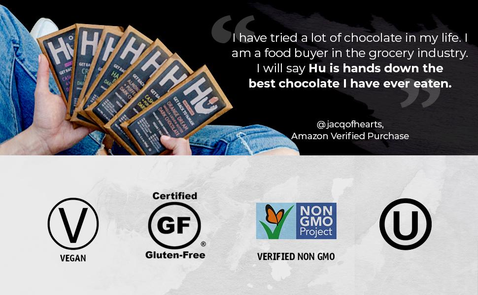 hu chocolate human vegan paleo keto gluten free soy natural organic ccocoa treat snack dessert gift