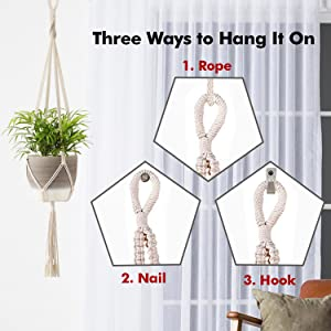 How to hang macrame plant holders