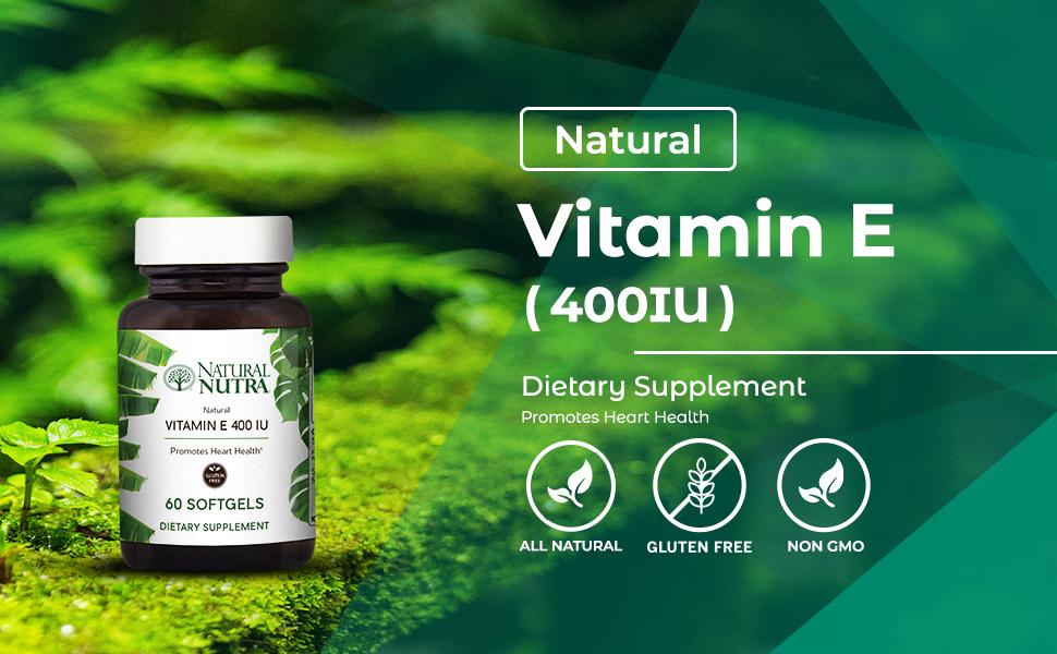 Natural Nutra d-Alpha Tocopherol Vitamin E 400 IU Supplement
