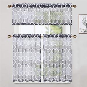 grey kitchen curtain