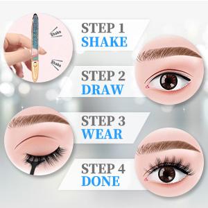 Easy To Use Eyelashes Eyeliner