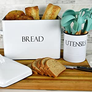 white kitchen utensil holder white salt and pepper shakers farmhouse kitchen utensil  utensils